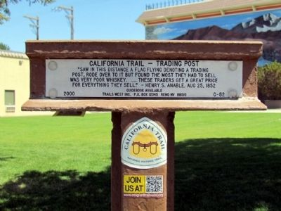 California Trail - Trading Post Marker image. Click for full size.