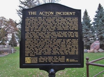The Acton Incident Marker image. Click for full size.