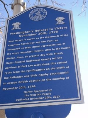Washington�s Retreat to Victory Marker image. Click for full size.