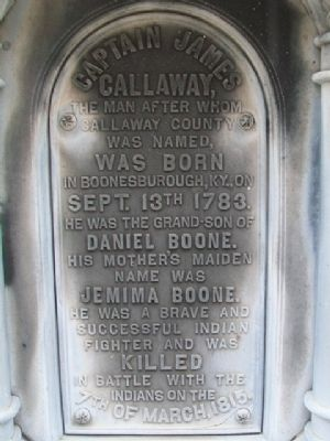 Captain James Callaway Marker image. Click for full size.