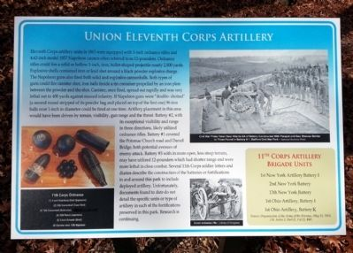 Union Eleventh Corps Artillery Marker image. Click for full size.