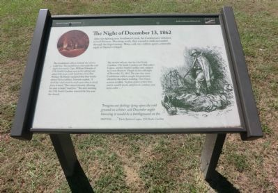 The Night of December 13, 1862 Marker image. Click for full size.