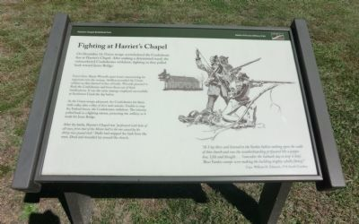 Fighting at Harriet's Chapel Marker image. Click for full size.