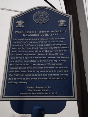 Washington's Retreat to Victory Marker image. Click for full size.