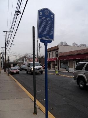 Marker on Main Street in Fort Lee image. Click for full size.