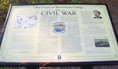 War Comes to Westminster College Marker image. Click for full size.