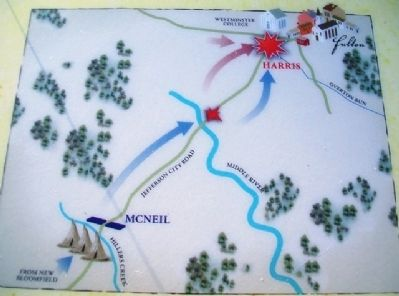 Map on War Comes to Westminster College Marker image. Click for full size.