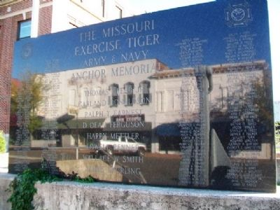 The Missouri Exercise Tiger Army & Navy Anchor Memorial Honor Roll image. Click for full size.