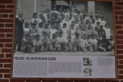 Prelude: The Green McAdoo School Marker image, Click for more information