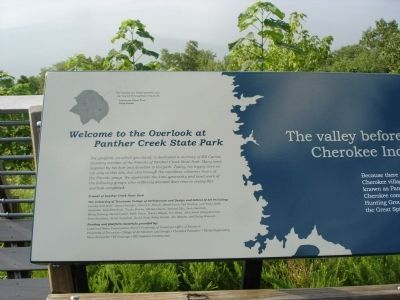 Welcome to the Overlook at Panther Creek State Park Marker image. Click for full size.