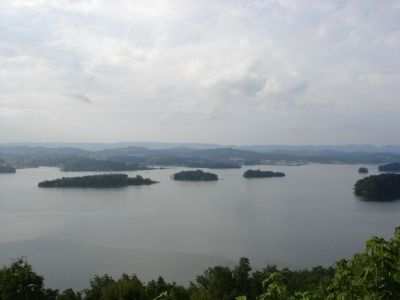 View from Welcome to the Overlook at Panther Creek State Park Marker image. Click for full size.