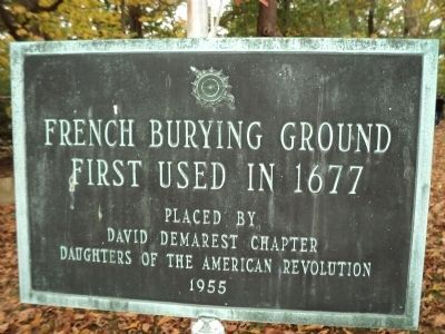 French Burying Ground Marker image. Click for full size.