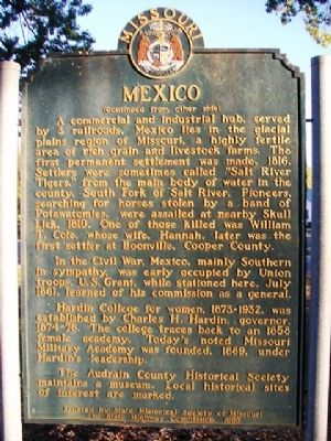 Mexico Marker (Side B) image. Click for full size.