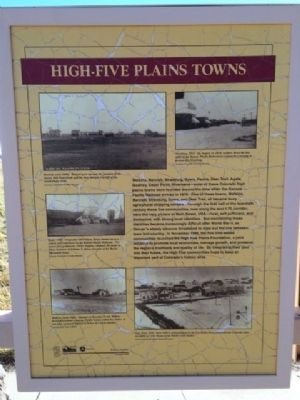 High-Five Plains Towns Marker image. Click for full size.