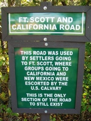 Ft. Scott and California Road Marker image. Click for full size.