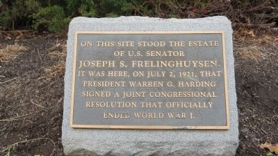 The Official End Of World War I Marker image. Click for full size.
