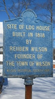 Site of Log House Built in 1818 by Reuben Wilson Marker image. Click for full size.
