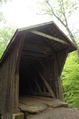 West End of Bunker Hill Covered Bridge image. Click for full size.