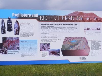 Prehistory and Recent History Marker image. Click for full size.