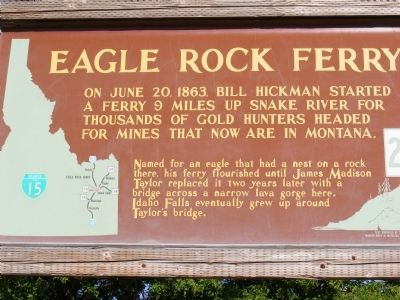Eagle Rock Ferry Marker image. Click for full size.