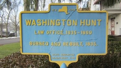 Washington Hunt Law Office Marker image. Click for full size.