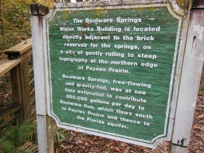 Boulware Springs Water Works Building Marker image. Click for full size.