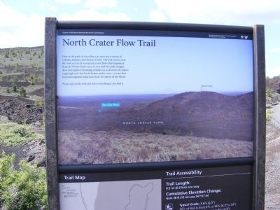 North Crater Flow Trail Marker image. Click for full size.