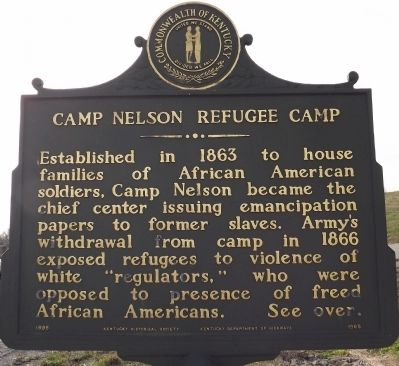 Camp Nelson Refugee Camp Marker image. Click for full size.