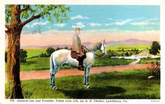 General Lee and Traveler, Taken from Life image. Click for full size.