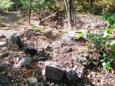 Remains of Log Cabin School Foundation image. Click for full size.