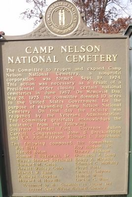 Camp Nelson National Cemetery Marker image. Click for full size.