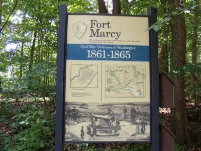 Fort Marcy, Virginia Marker image. Click for full size.