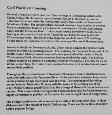 Civil War River Crossing Marker image. Click for full size.