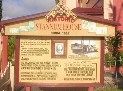 Historic Stannum House Marker image. Click for full size.