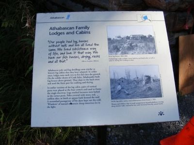 Athabascan Family Lodges and Cabins Marker image. Click for full size.