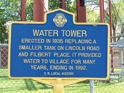 Water Tower Marker image. Click for full size.