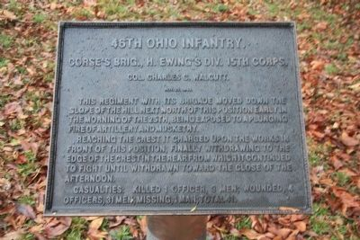 46th Ohio Infantry Marker image. Click for full size.