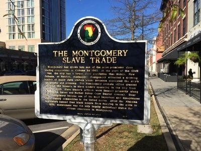 The Montgomery Slave Trade Marker image. Click for full size.