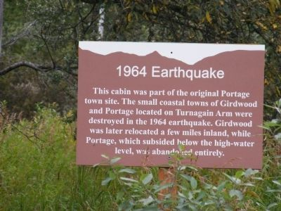 1964 Earthquake Marker image. Click for full size.