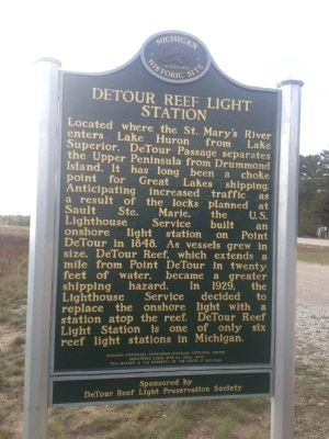 DeTour Reef Light Station Marker image. Click for full size.