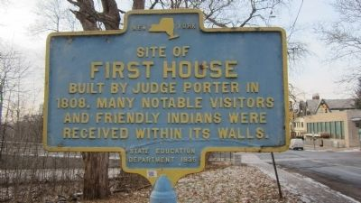 Site of First House Marker image. Click for full size.