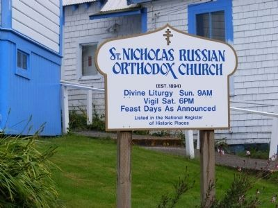 St. Nichlolas Russian Orthodox Church Marker image. Click for full size.