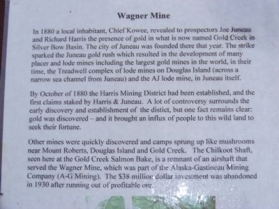 Wagner Mine Marker image. Click for full size.