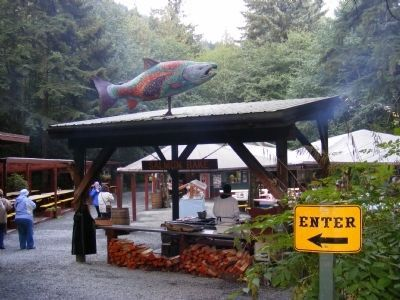 Entrance to the Gold Creek Salmon Bake-location of the Wagner Mine image. Click for full size.