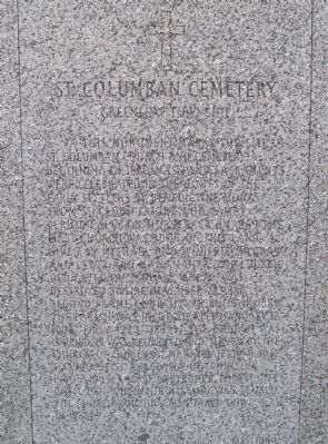 St. Columban Cemetery Marker image. Click for full size.