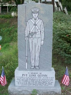 Pvt Luke Quinn Memorial image. Click for full size.
