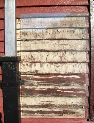 Former B&O Passenger Station - Unrestored Wall Section image. Click for full size.