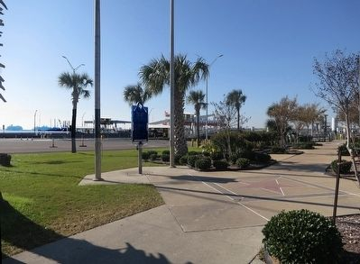 Galveston Island Marker & Boliver Ferry image. Click for full size.