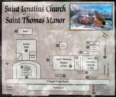 St. Ignatius Catholic Church<br>Saint Thomas Manor image. Click for full size.