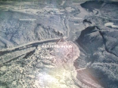 Aerial Photo on A Land Divided Marker image. Click for full size.